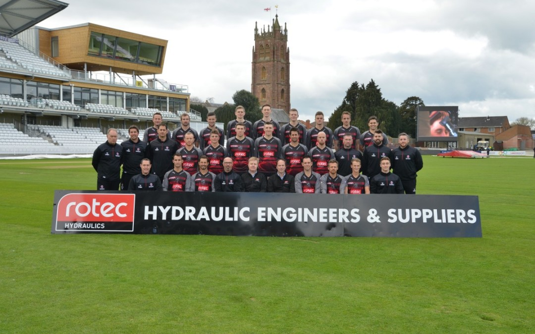 Rotec Hydraulics proud sponsors at Somerset County Cricket Club -Royal London One Day Cup