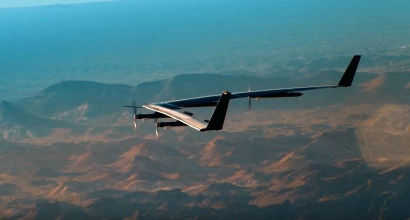 Aquilla drone during test flight
