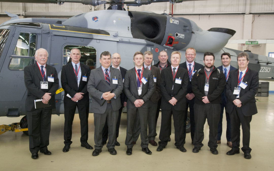 Networking at Leonardo factory: in the shade of the AW159 Wildcat